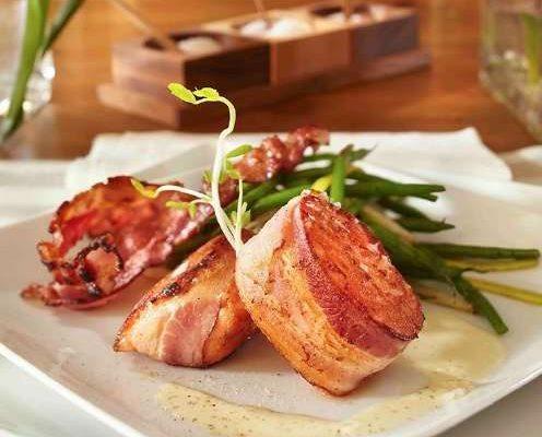 Tournedos de saumon au bacon